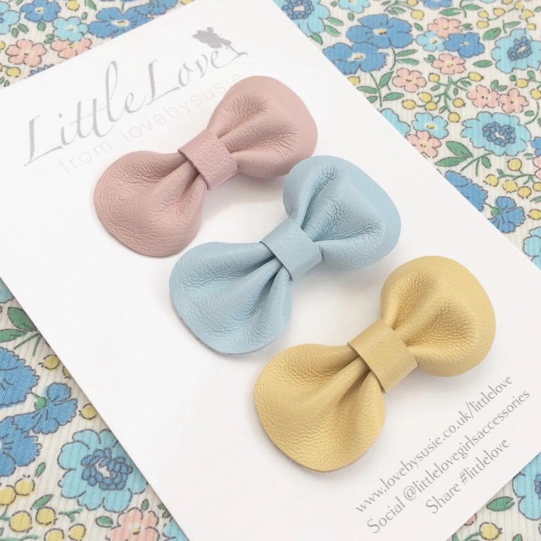 Mini Bow Hair Clip Set / BON BON