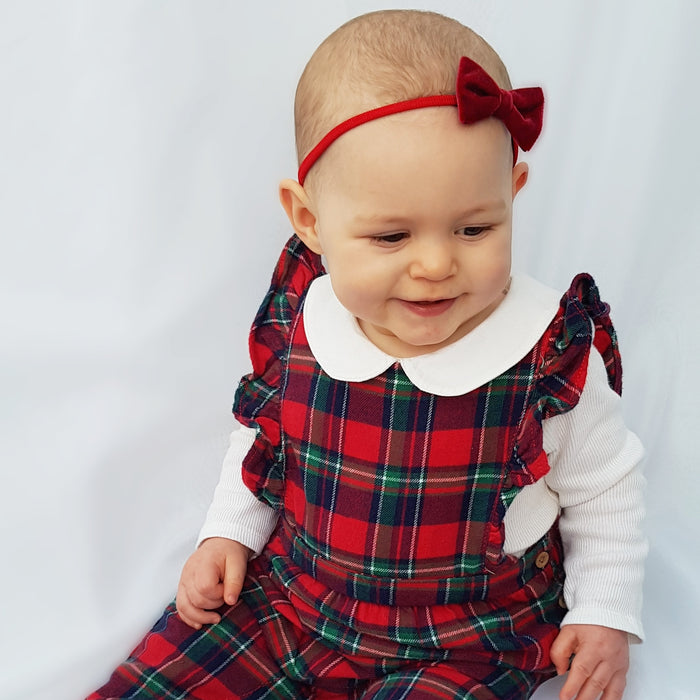 Little Love Velvet Bow Baby Headband Chrismas Set, Red and Green Velvet Bow headbands, christmas baby bow headbands, Red velvet bow headband for baby, Green velvet bay bow headband, Christmas baby headband set, Velvet Baby Bow headbands, Red baby headband with bow, Christmas baby hairbows