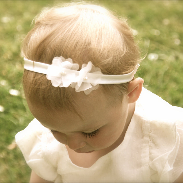 Ophelia Silk Flower Baby Headband