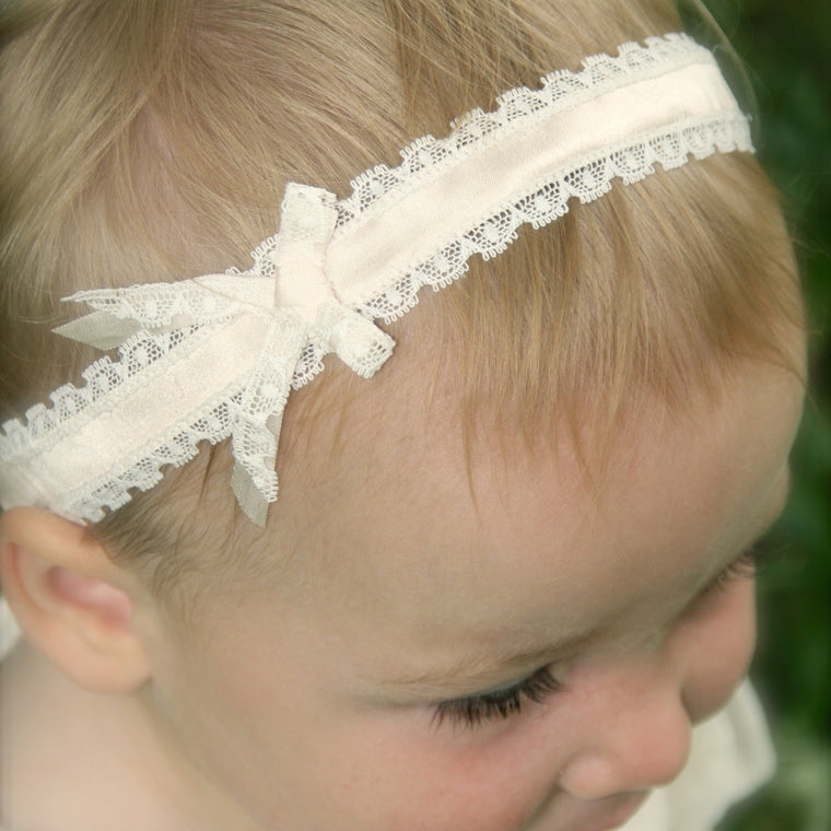 Darcy Silk & Lace Baby Headband