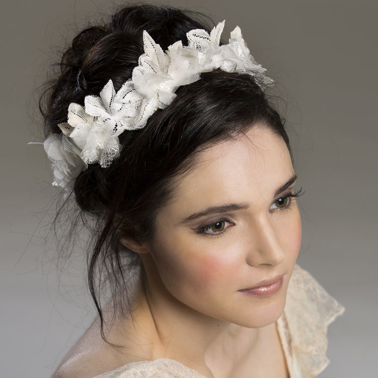 Majesta Silk & Lace Floral Crown