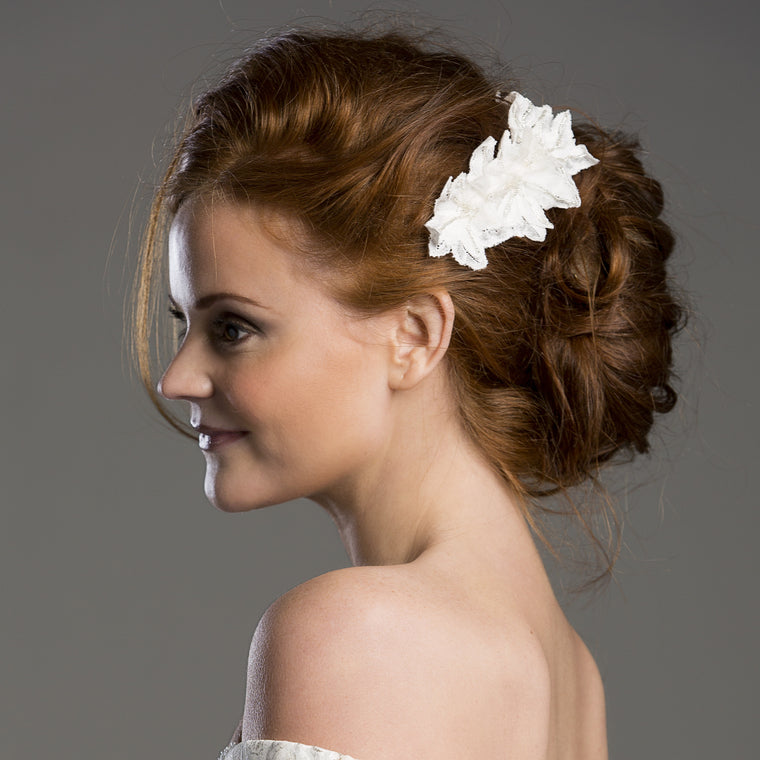 Laverna Ivory Lace Bridal Comb