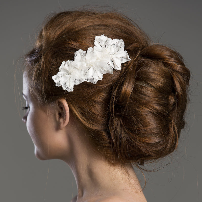 Laverna Ivory Fauna Silk Flower Bridal Comb from Lovebysusie wedding hair accessories and bridal hair accessories, hair combs