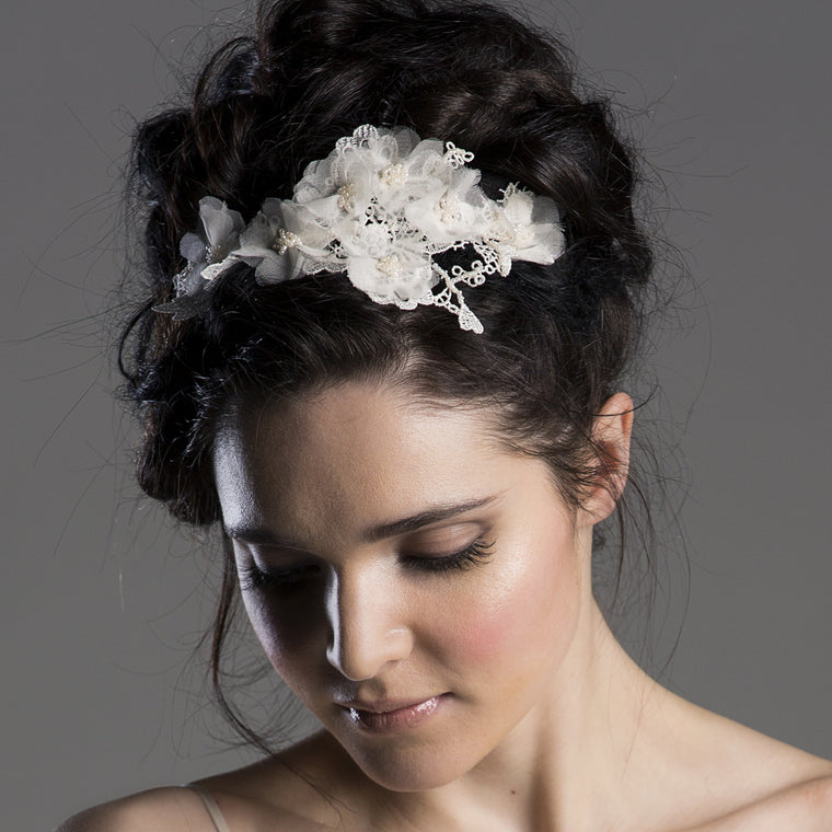 Leonora Lace Floral Hairband