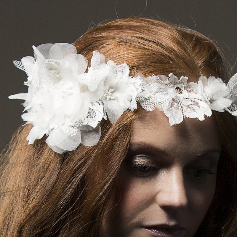 Majesta Silk and Lace Floral Crown from LovebySusie Bridal Accessories