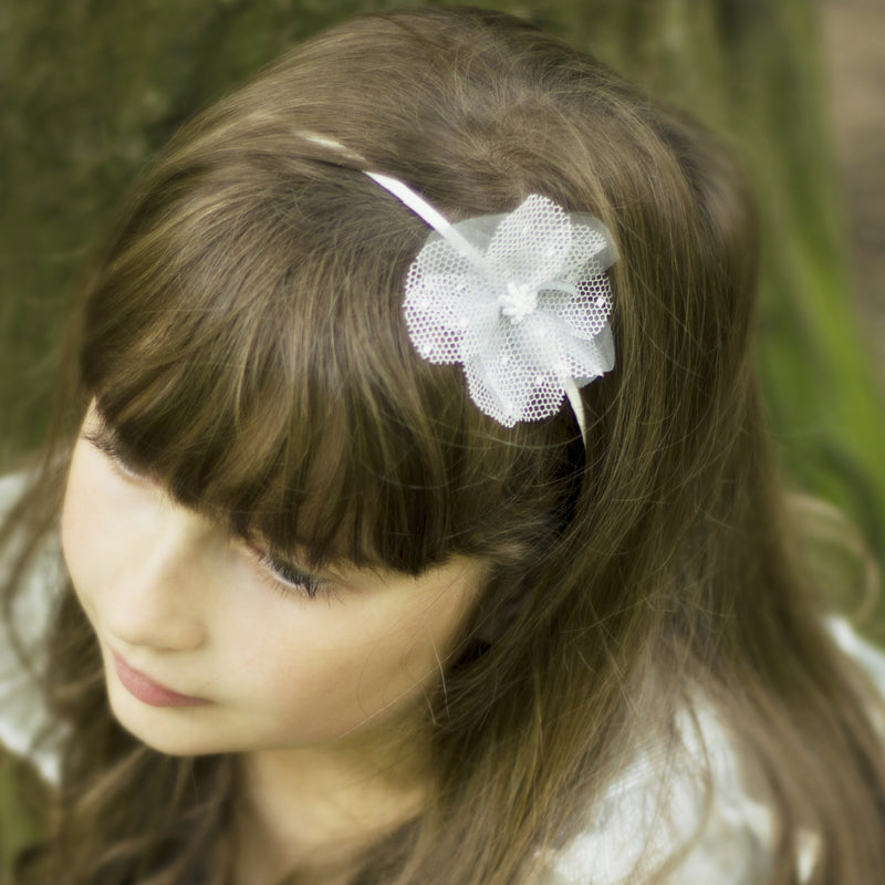 Discover our pretty flower girl hairband, Ivory Silk Flower Headband, Flower Girl Accessories, Hairband for Flower Girl, Flowergirl, silk pink flower hairband