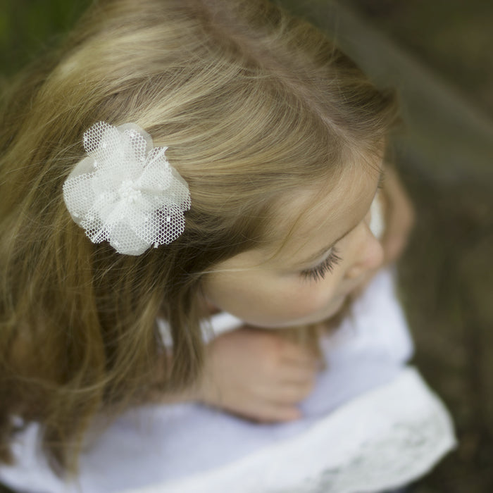 Ellie Beaded Silk Flower Girl Hair Clip, Flower Girl Hair Accessory, Pink Flower Hair Clip, Ivory Flower Hair Clip, Little Love, Girls Hair Accessories, Flower Girl Hair Clip, Flower Girl Hair Accessory