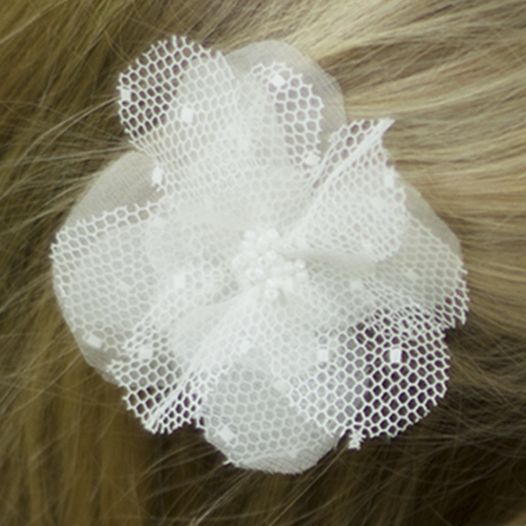 Ellie Beaded Silk Flower Girl Hairband