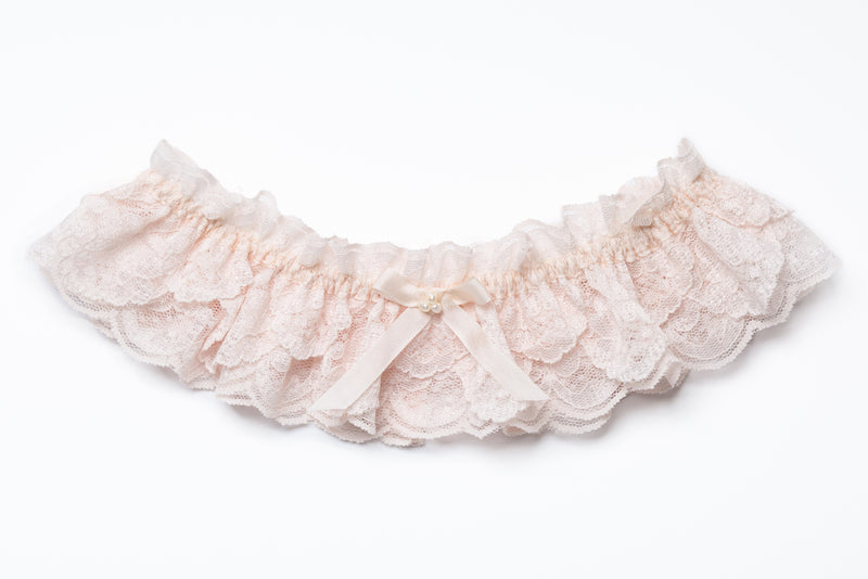 ale pink frilled lace wedding garter for brides, Pink Wedding Garters, Blush Pink Garter, Blush Bridal Garter, Lace Wedding Garte...