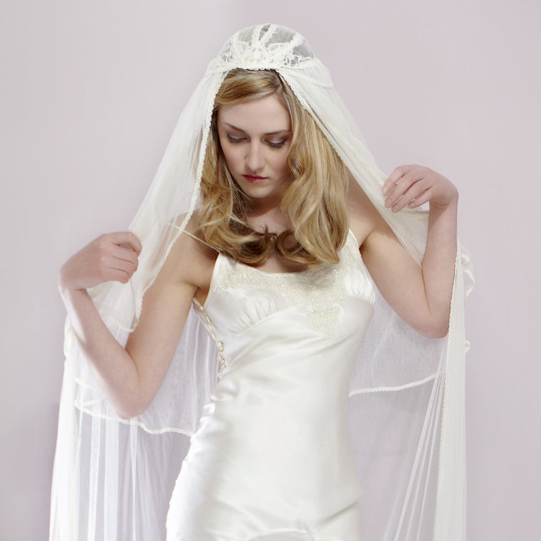 Etta Lace Juliet Cap Wedding Veil