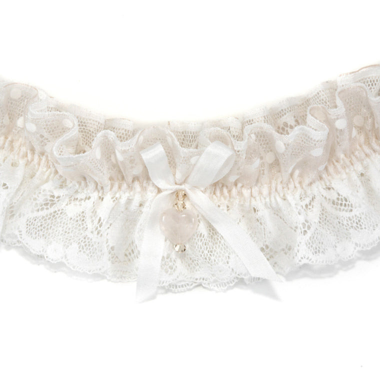Odiana Lace Spot Wedding Garter
