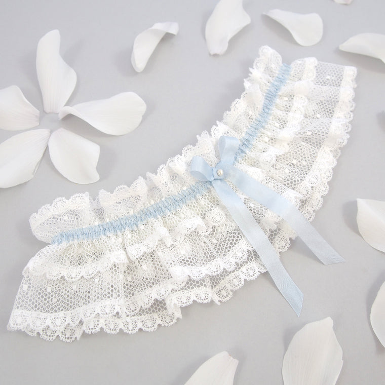 Ivory Lace Wedding Garter / Chloe Spot