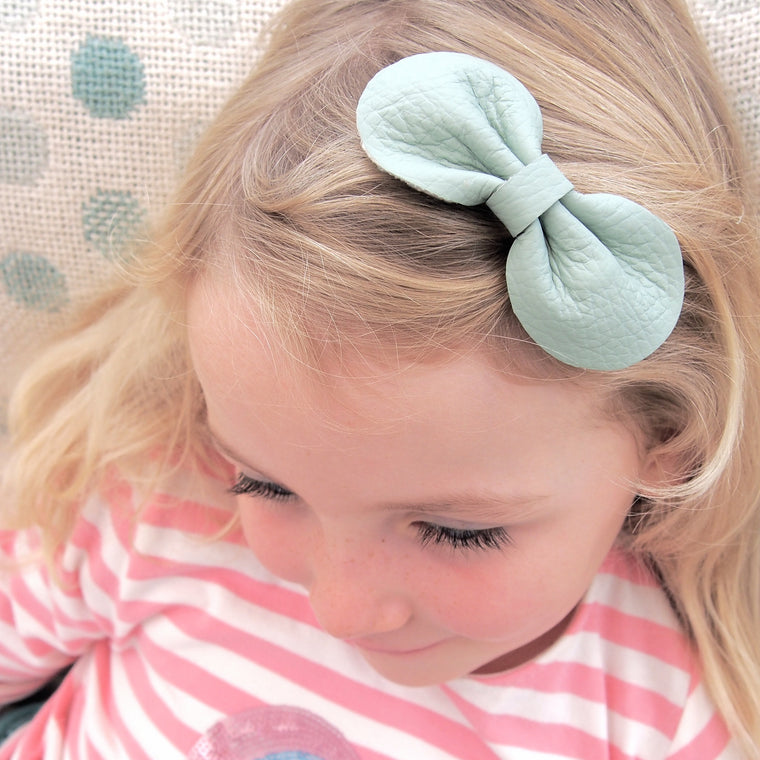 COCO Classic Leather Bow/ Mint