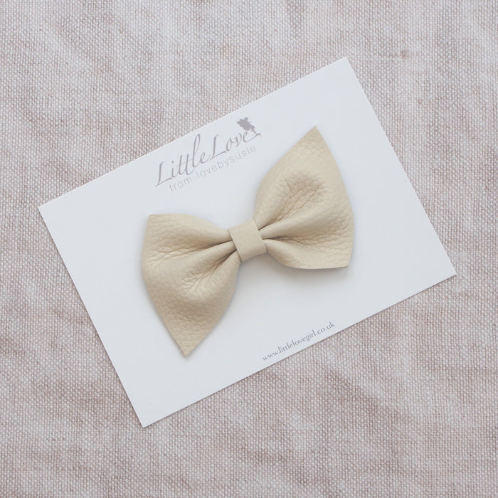 HARLOW Leather Bow Hair Clip