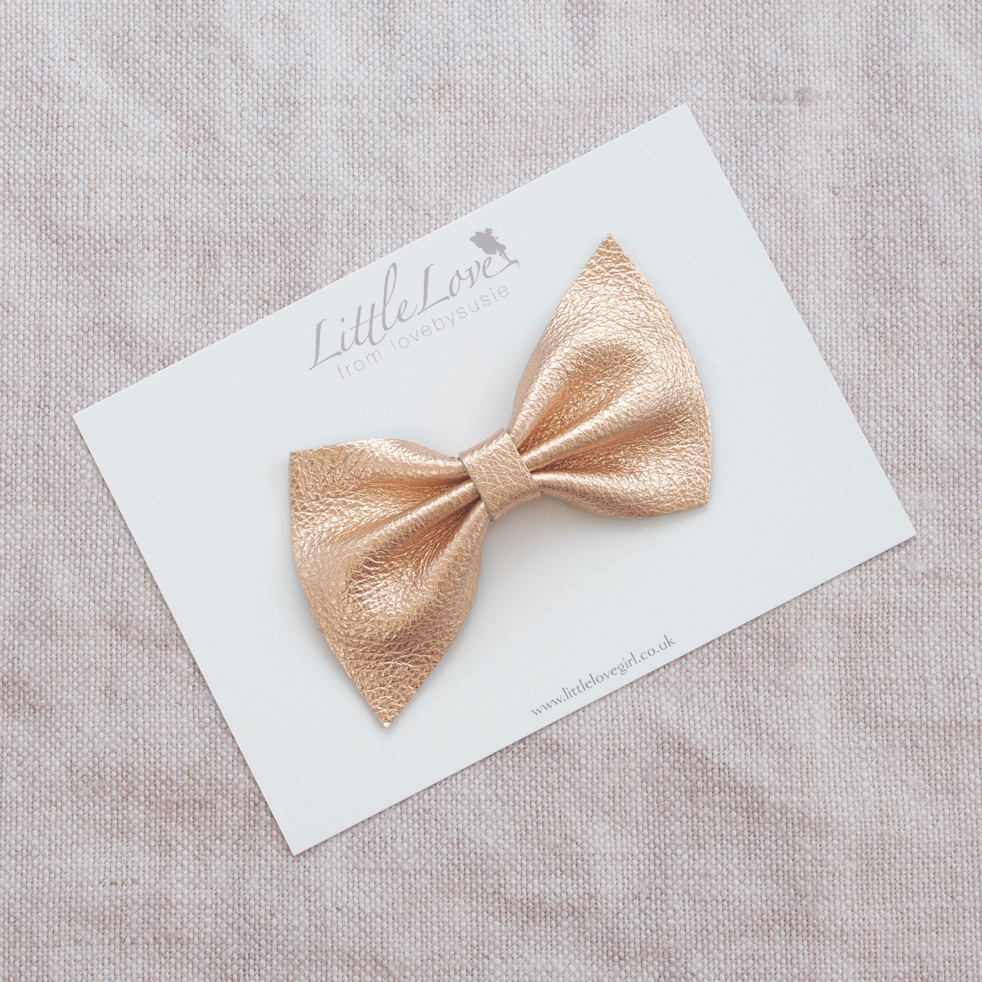 Harlow leather bow hair clip in beautiful muted pastels, neutrals, metallics, Girls Hair Clips, Little Love Hair Bow, Leather Bows, Rose Gold Bow, Metallic Leather Hair bow, Rose Gold Leather Bow, Little Love, Rose Gold Hair Bow, rose gold leather bow, rose gold leather bows, genuine leather bow hair clips, rose gold hair bows for girl