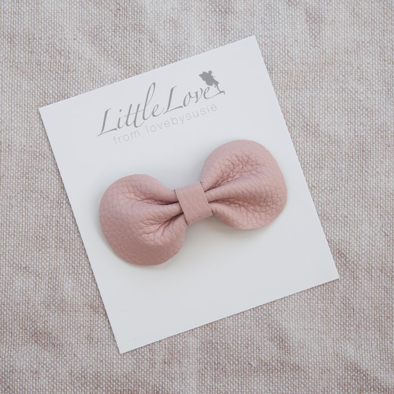 leather bow hair clip in neutral shades, muted pastels and soft metallics, Girls Hair Clips, Hair Bow, Hair clip, Leather Bows, Dusky Pink Bow, Toddler Hair Bow, Neutral coloured Hair Bow, Little Love Leather Bow, Pale Pink Hair bow, Metallic Leather Bow Hair Clips, Little Girls Hair Bows
