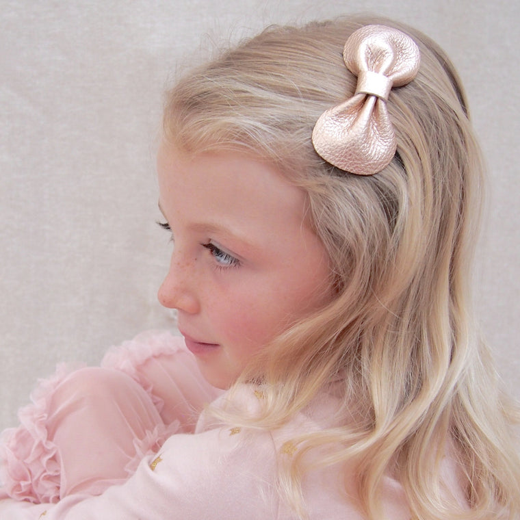COCO Classic Leather Bow/ Rose Gold