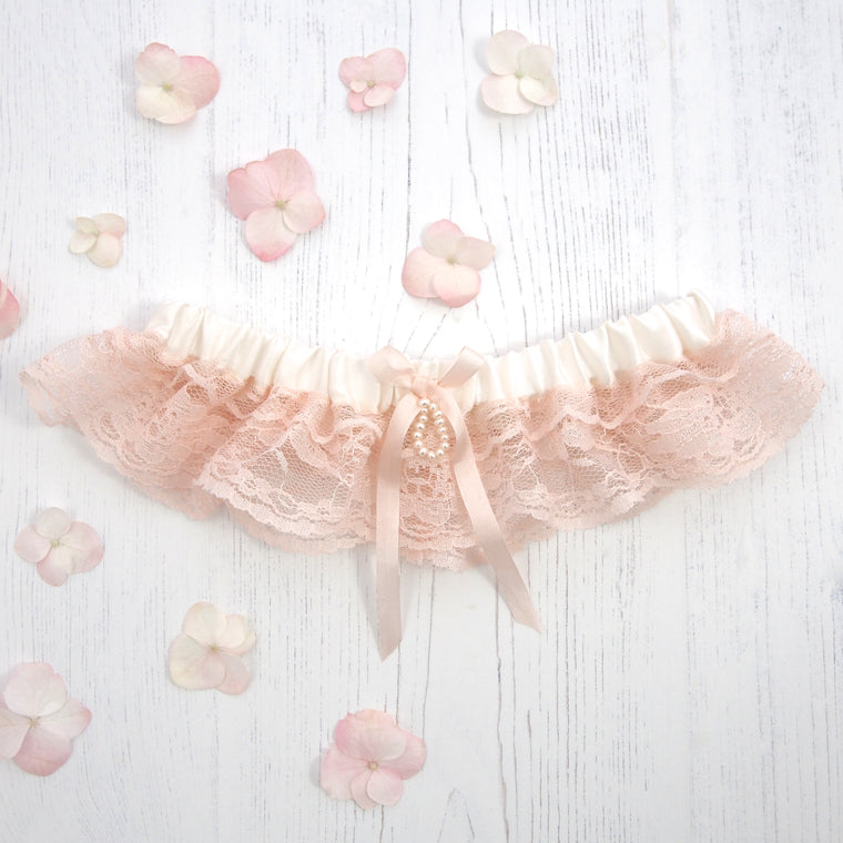 Ophelia Rose Silk Wedding Garter