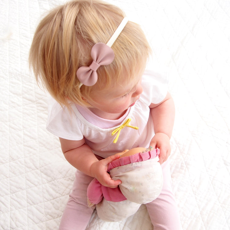 Baby or Toddler leather bow headband in Pastels, Pink Baby Bow, Yellow Bow , Blue Bow, White Baby Bow, Pale Pink Baby Bow Headband, Pink Toddler Bow, Baby Headband