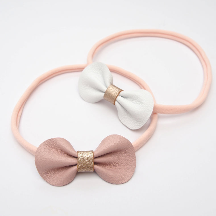 Baby Toddler Bow Headband / Lux Rose Gold