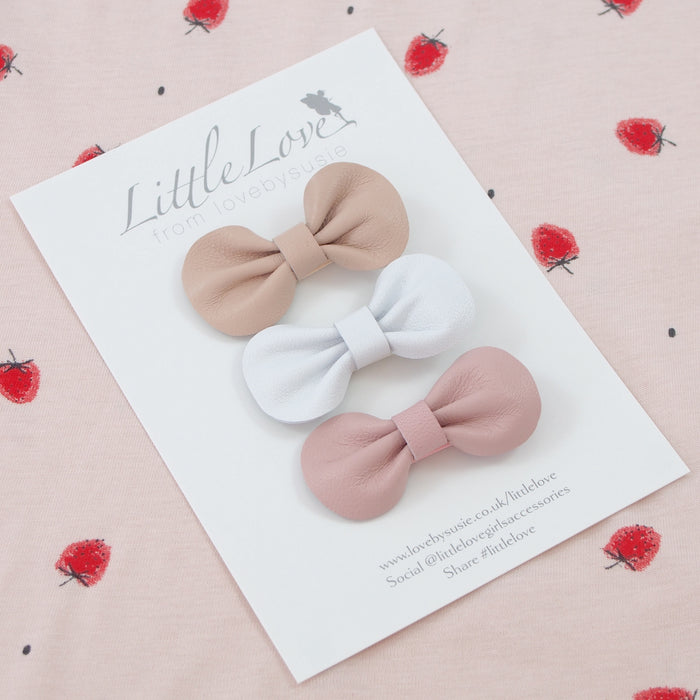 Mini Bow Hair Clip Set / MILKSHAKE