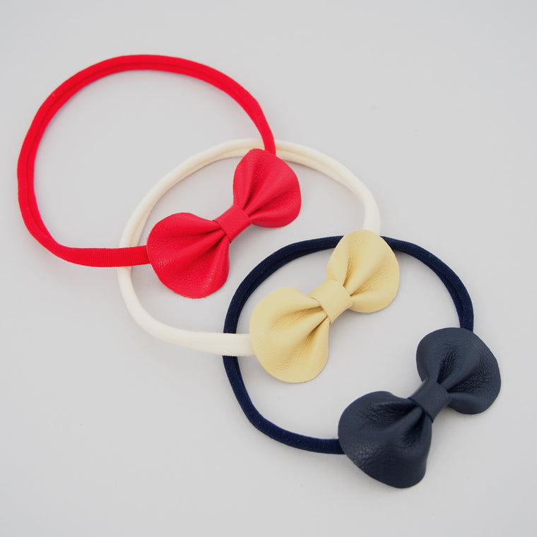 Baby Toddler Bow Headband / Primary Colours