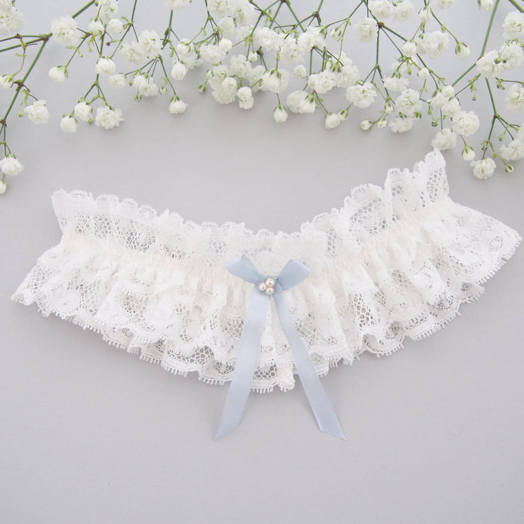 Luella Frilled Lace Wedding Garter