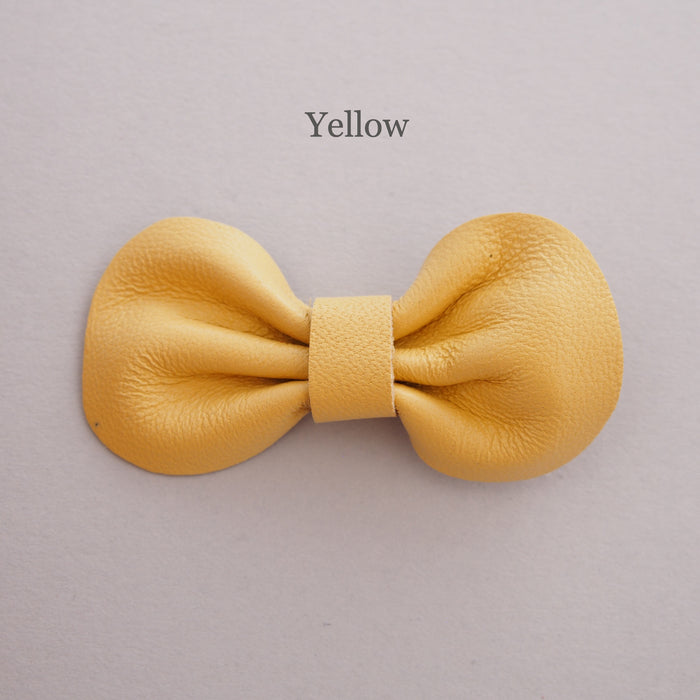 Mini Leather bow hair clip set, yellow hair bow for toddler, pick your own colours bows, yellow bows for babies, bows for toddlers, yellow bows for girls, custom bow hair clip colours, baby bow hair clips, Baby hair clips, Toddler hair clips, leather bows, baby hair clips, yellow hair bows, mini bows in yellow for babies and toddlers