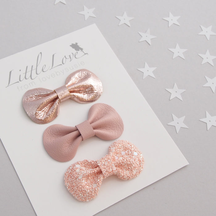 Mini Bow Hair Clip Set / WISH