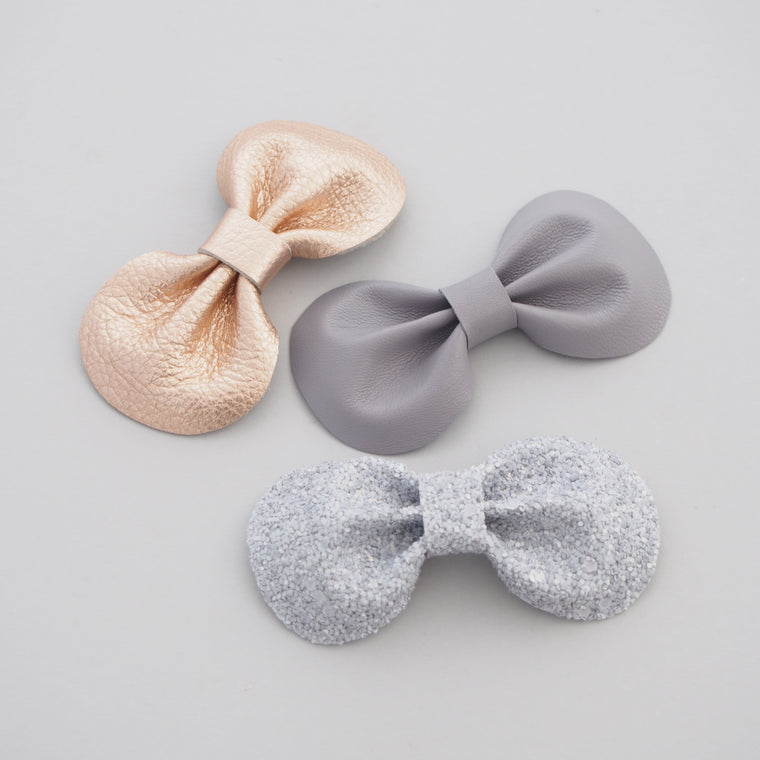 Little Love, Cloud Grey Glitter Bow Hair Clip, Sparkly glitter hair bows, Little Love,grey glitter bows, Girls Silver Glitter Hair Bows, Girls Hair Accessories, Little Girls Bows, Glitter Bow Hair Clip in grey silver