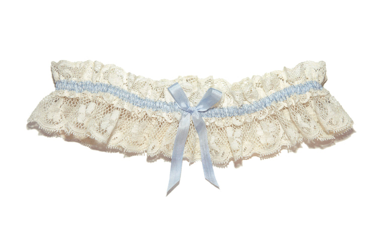 Tianna Vintage Lace Wedding Garter, Ivory Lace Wedding Garter, Cream Lace Garter in Beautiful Gift Box