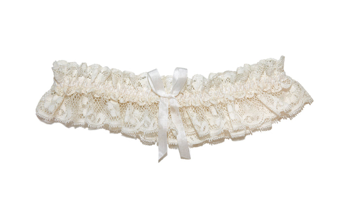 Tianna Vintage Lace Wedding Garter, Ivory Lace Wedding Garter, Cream Lace Garter