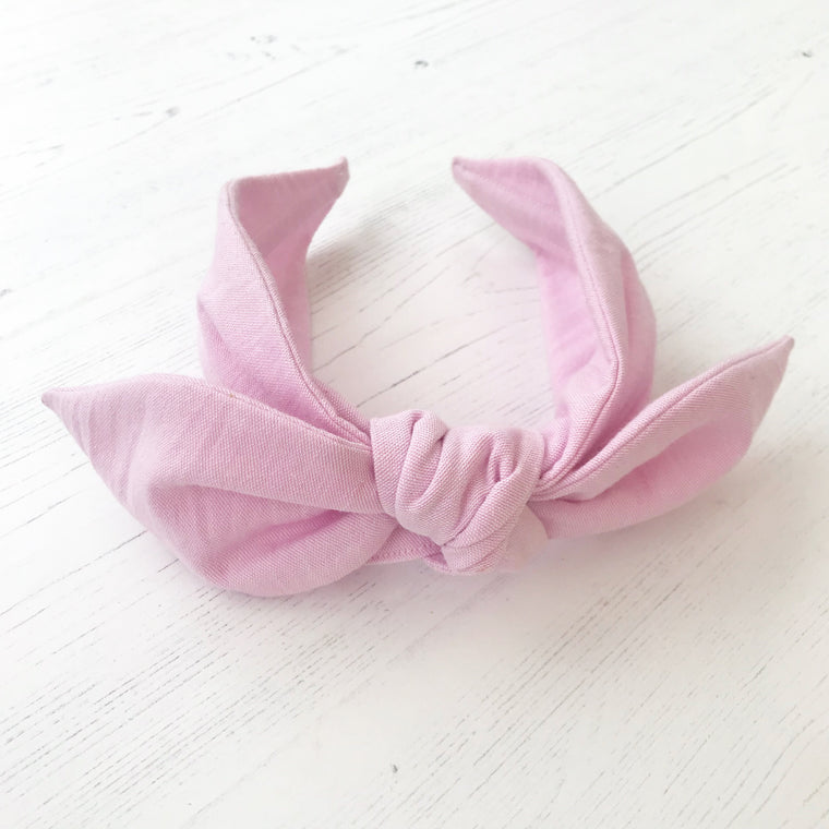 Cotton Chambray Knot Bow Headband