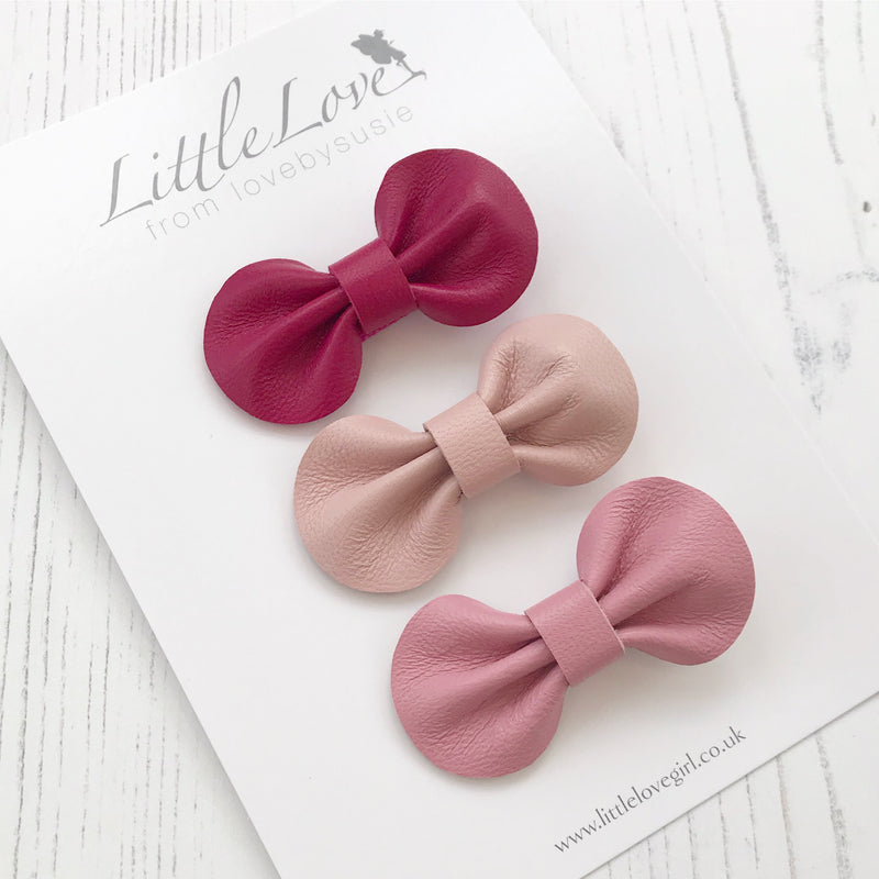 Mini Bow Hair Clip Set / VALENTINE