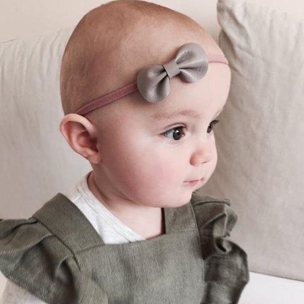 Baby Toddler Bow Headband / Mink