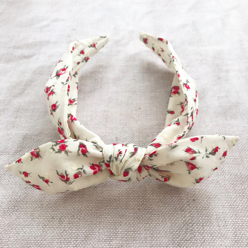 🌹 ROSEBUDS 🌹Swiss Dot Knot Headband