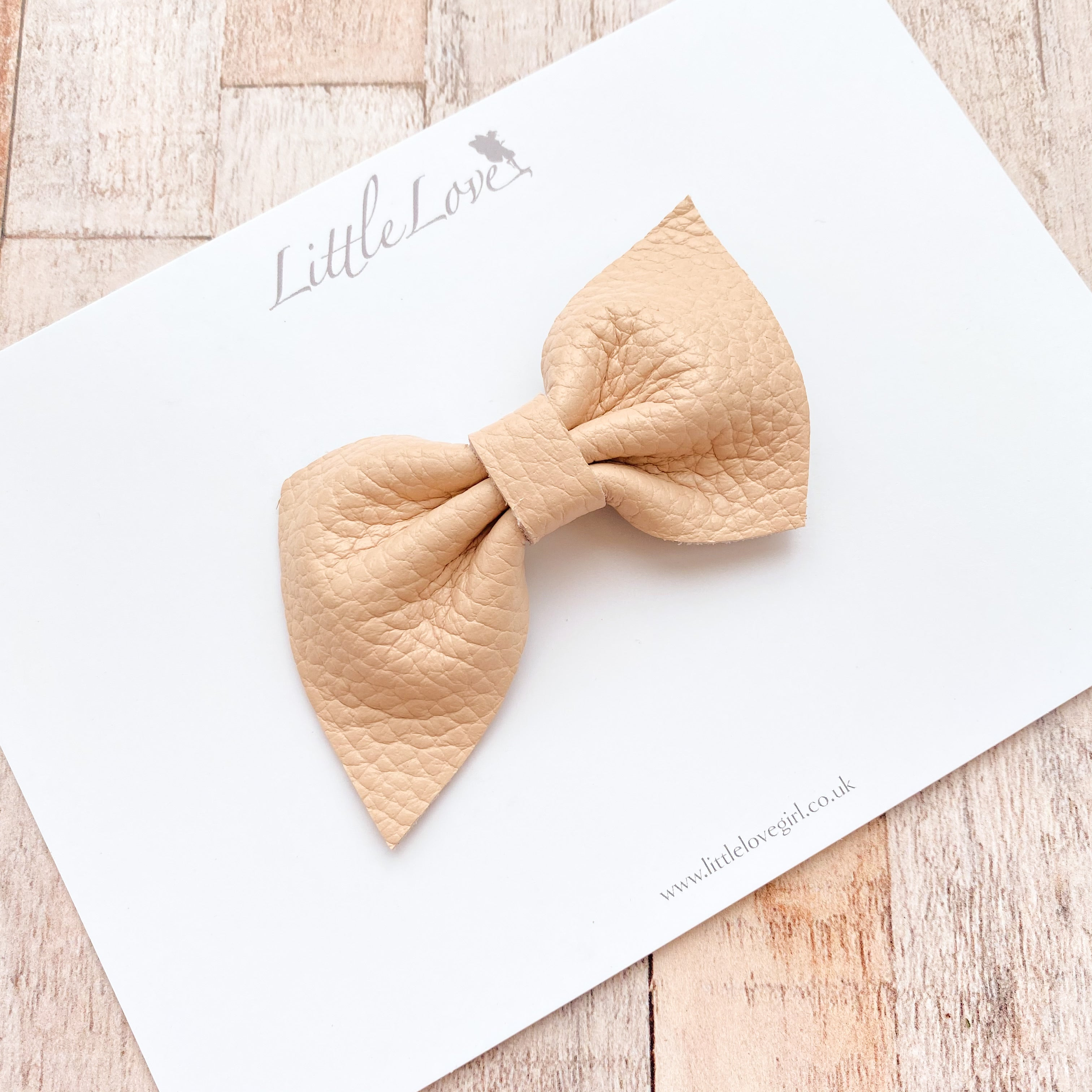 HARLOW PETITE Leather Bow/ Neutrals