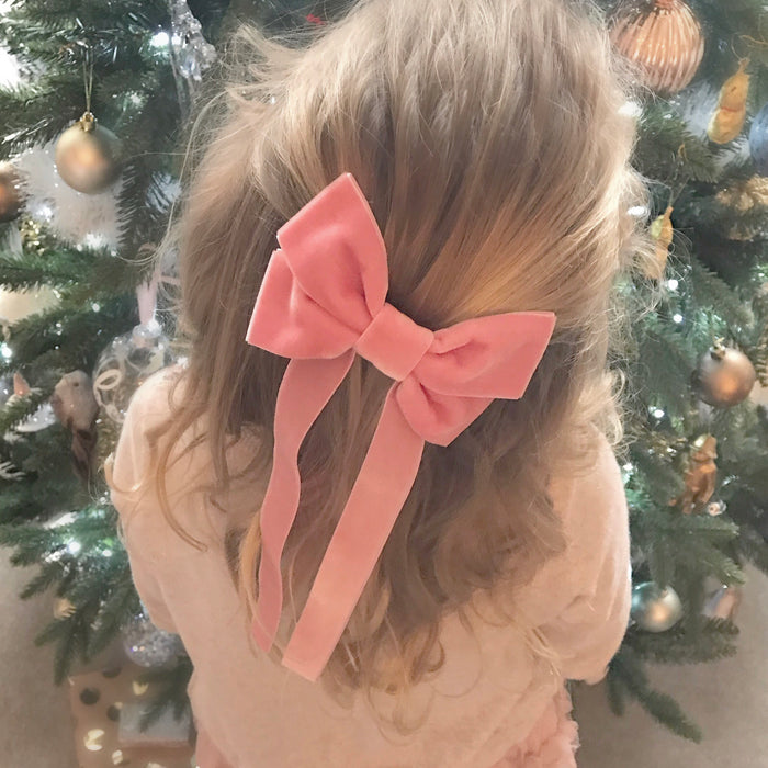 Oversized Velvet Bow Hair Barrette/ FABLE