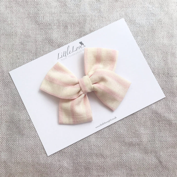 Summer Stripe Bow Hair Clip