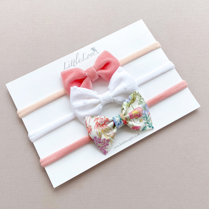 Baby Bow Headband Set / Poets Meadow