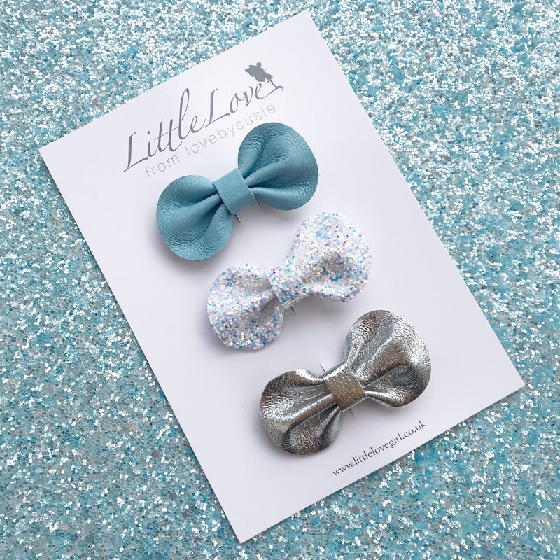 Mini Bow Hair Clip Set / ELSA