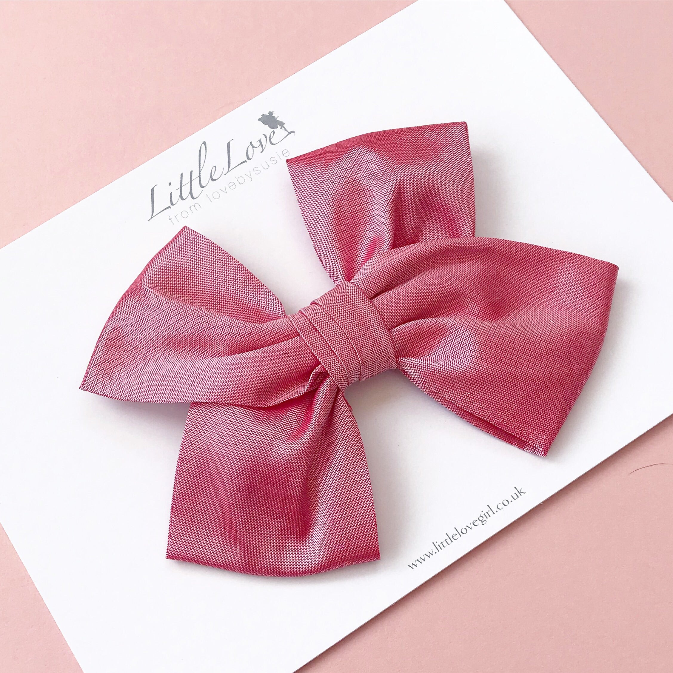 Silk Bow Hair Clip / Marilyn