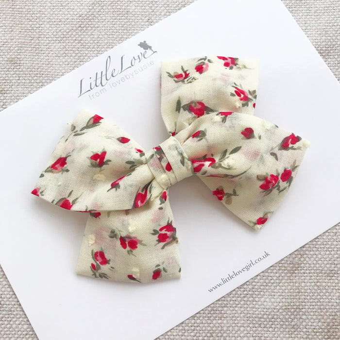 ROSEBUDS Swiss Dot Hair Bows