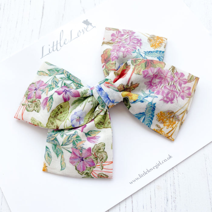 Liberty Floral Bow / Poets Meadow