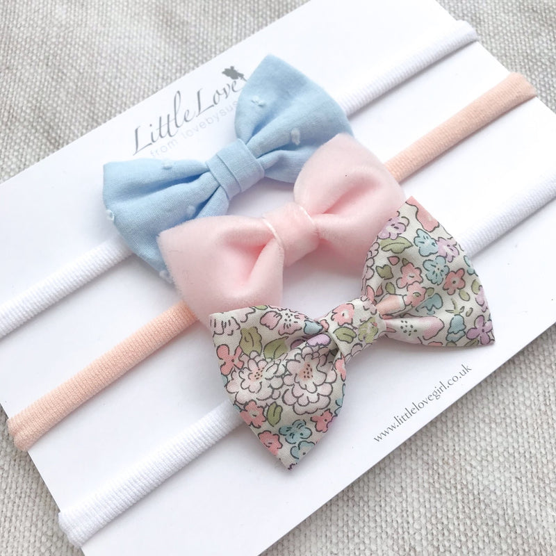 Baby Bow Headband Set / Michelle