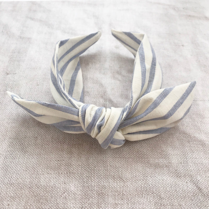 Breton Stripe Cotton Bow Headband