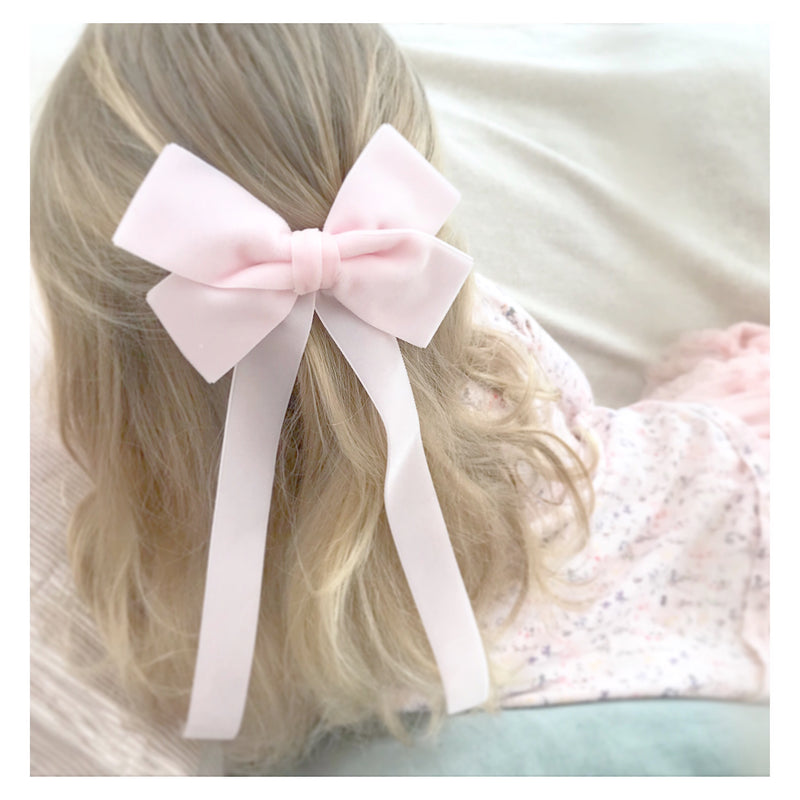 Little Love velvet bow hair clip in ivory or pink , flower girl bow hair clip, large velvet bow uk, ivory velvet hair bow, bow for flower girl, flower girl hair accessories uk, flower girl accessory, Pink velvet flower girl hairbow, pink velvet hairbow, oversize velvet hair bows, bow barette, jennifer behr bow barette