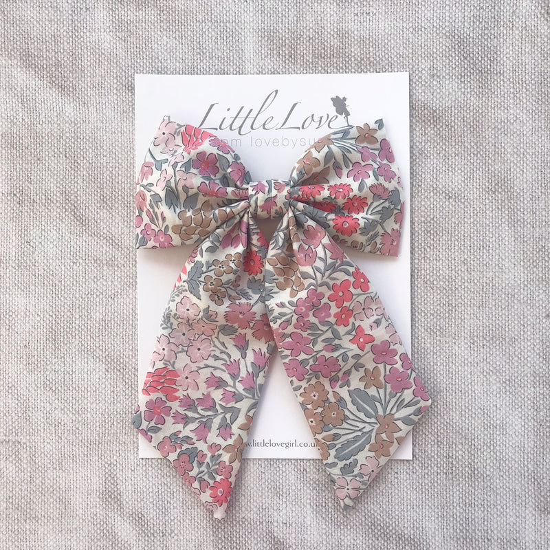 Little Love Liberty Sweet May hairbow collection for little girls, liberty floral hairbows, Liberty cotton hair clips, liberty hair bows, liberty sweet may, floral bow hair clips, floral bow hair clips, floral liberty hair clips, liberty print hair bows, Sweet May cotton bow hair clip,