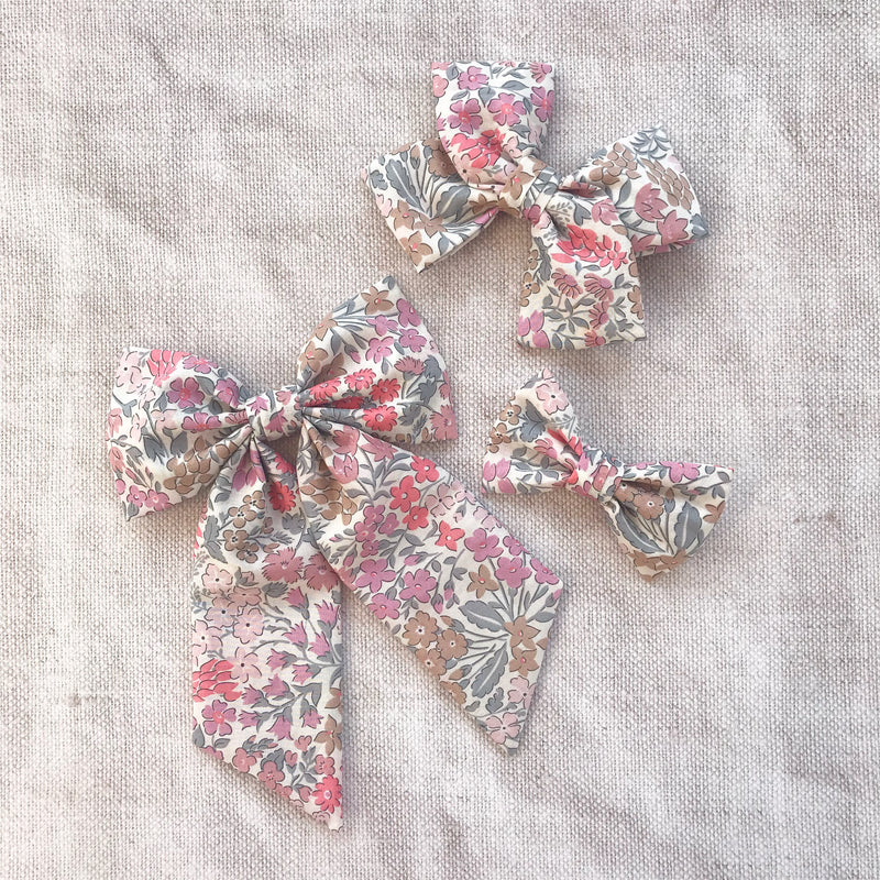 Little Love Liberty Sweet May hairbow collection for little girls, liberty floral hairbows, Liberty cotton hair clips, liberty hair bows, liberty sweet may, floral bow hair clips, floral bow hair clips, floral liberty hair clips, liberty print hair bows, Sweet May cotton bow hair clip, matilda and grace bows