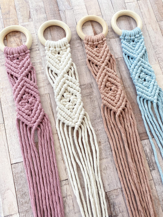 Macrame Bow Holder / SKY BLUE